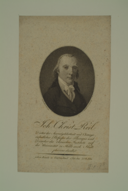 Johann Christian Reil, Friedrich Wilhelm Bollinger - 1799 (Quelle: Digitaler Portraitindex)
