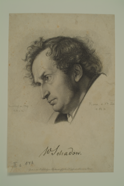 Wilhelm von Schadow, 1831-1834 (Quelle: Digitaler Portraitindex)